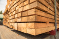 Wood pile bind ready to be delivered to customer Stock Image