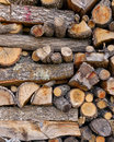 Wood pile a cut abstract Stock Images