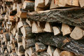 Wood piles Stock Photos