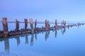 Madera pilar locura playa sur azul