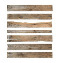 Wood plank with clipping path isolated on white background Royalty Free Stock Image
