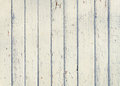 Wood plank fence with an old paint white color close up. Detaile Royalty Free Stock Photo