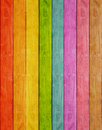 Wood plank rainbow background Royalty Free Stock Photo