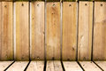 Wood plank wall and floor texture background Royalty Free Stock Photography
