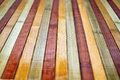 Wood planks closeup grunge wooden of different color Royalty Free Stock Photos