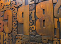 Wood Printing Blocks 1 Stock Photos