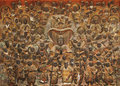 Wood relief of 104 deva, Mok-a Museum, Korea Royalty Free Stock Images