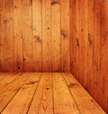 Wood room Stock Photography