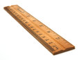 A wood ruler Royalty Free Stock Photo