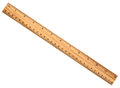 A wood ruler isolated over white background Stock Images