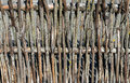 Wood rustic fence photo of was taken in a countryside lithuania europe Stock Photo