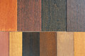 Wood samples Royalty Free Stock Photo