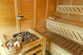 Wood sauna Royalty Free Stock Photo