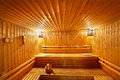 Wood sauna room Royalty Free Stock Photo