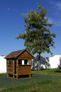 Wood shack the tree house for the children s games Stock Image