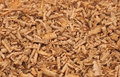 Wood shavings close up of shallow depth of field Stock Image