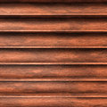Wood shelves several brown aligned Stock Images