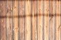 Wood slat with shadows Royalty Free Stock Photo