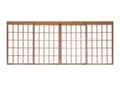 Wood sliding door traditional japanese house isolated on white background Stock Photo