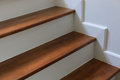 Wood staircase Royalty Free Stock Photo