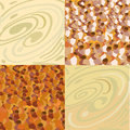 Wood, stone seamless patterns Royalty Free Stock Photos