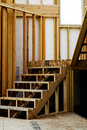 Wood Studs Framing in Home Construction Royalty Free Stock Photo