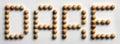 Wood Tack Word Art `Dare` Royalty Free Stock Photo