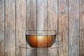Drevo čaj pohár