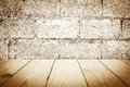Wood Texture on Old vintage brick wall for Background. Royalty Free Stock Photo