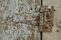 Wood texture with rusty iron hinge old grungy background old timber Royalty Free Stock Photos