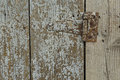Wood texture with rusty iron hinge old grungy background old timber Stock Photos