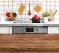 Wood Texture Table On Kitchen ...