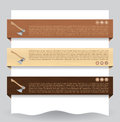 Wood textured website banner with ax Royalty Free Stock Images