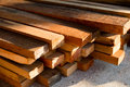 Wood timber construction material Royalty Free Stock Photo