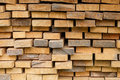 Wood timber construction material. Royalty Free Stock Photo