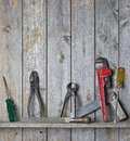 Wood Tools Background Royalty Free Stock Photo