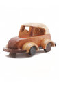 Wood toy car hand made Stock Image