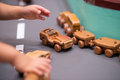 Wood Toys racing car Royalty Free Stock Photo