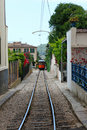 Wood train of puerto de soller in mallorca retro Stock Images