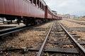 Wood Train Wagons Royalty Free Stock Photography