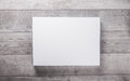 Wood wall and blank paper card Royalty Free Stock Photo