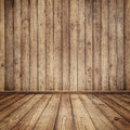 Wood walls and table for text and background Stock Photos