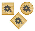 Wood web buttons. Royalty Free Stock Photo
