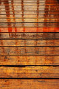 Wood wet floor rain Royalty Free Stock Photography