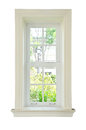 Wood window white frame Royalty Free Stock Photo