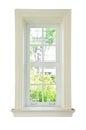 Wood window white frame Royalty Free Stock Photo