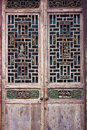 Woodcarving doors and windows chinese style Stock Photography