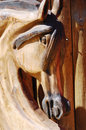 Woodcarving horse head Stock Photography