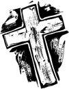 Woodcut Cross