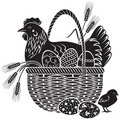 Woodcut de Easter Imagem de Stock Royalty Free